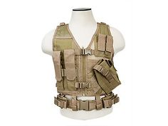 VISM Tactical Airsoft Kids Vest - Tan in Sporting Goods, Outdoor Sports, Airsoft | eBay