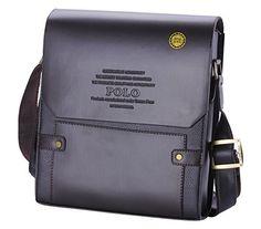 Videng Polo Men s Leather RFID Blocking Secure Briefcase Shoulder Messenger  Bags, V1-brown   90049f745b