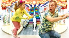 Alina and Dad have fun playing at the Toys House for kids Toy House, Dads, Play, Fun, Fathers, Play Houses, Hilarious