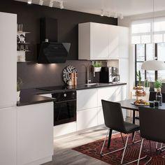 Ikea Kitchen, Home Decor Kitchen, Kitchen Furniture, Kitchen Dining, Kitchen Cabinets, Apartment Furniture, Apartment Kitchen, Kitchen Gallery, Apartment Ideas