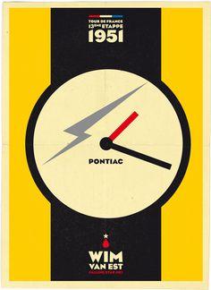 """Falling Star #07: Wim van Est schreef historie met zijn val in de de 13e etappe van de Tour de France. Rijdend in de gele trui valt van Est in een diep ravijn in de afdaling va de Aubisque. Met aan elkaar geknoopte fietsbanden wordt hij omhoog getrokken. """"Zeventig meter viel ik diep. M'n hart stond stil maar mijn Pontiac liep!"""" Van Est won later in z'n carrière nog twee maal een etappe."""