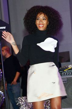 The best celebrity tattoos: Solange Knowles has angel wings and a set of stars tattooed on her inner right wrist.