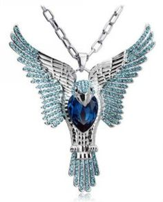 Amazon.com: Wiipu Factory sale blue necklace, hot sell eagle shape crystal necklace(C1356): Y Shaped Necklaces: Jewelry