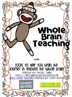 Whole Brain starter pack essentials {starring sock monkey} free Classroom Behavior, Kindergarten Classroom, Classroom Themes, Classroom Organization, Classroom Management, Behavior Management, Classroom Expectations, Classroom Posters, Teaching Strategies