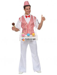 for Carnival & Carnival Ice Cream Man, Ice Cream Party, Hallowen Costume, Cute Costumes, Pantomime, Candyland, Ice Cream Seller, Popcorn Costume, Carnival