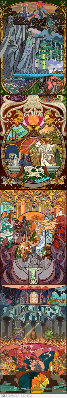 LOTR Stained Glass  I am in So much love!