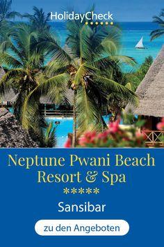 """Erlebe deinen Sansibar-Urlaub in diesem Bestseller-Hotel. In diesem Luxushotel finden Sport-, Hochzeitsreisende und Badeurlauber alles was das Herz begehrt. Bester Service, tolles Essen und ein großes Freizeitangebot, warten in eurem nächsten Sommerurlaub im """"Neptune Pwani Beach Resort & Spa"""" auf Sansibar. Bereit für Urlaub am Meer mit 94%iger Weiterempfehlung und Entspannung pur?  #sansibar #bestseller #holidaycheck Resort Spa, Beach Resorts, Sport, Honeymoon Pictures, Deporte, Excercise, Sports, Resorts, Exercise"""
