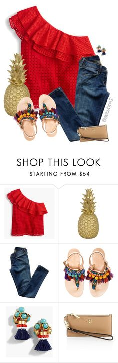 """""""Island Paradise!!😂"""" by abbybp42 ❤ liked on Polyvore featuring J.Crew, Goodnight Light, Citizens of Humanity, Elina Linardaki, Tory Burch, contest, red and summertime"""