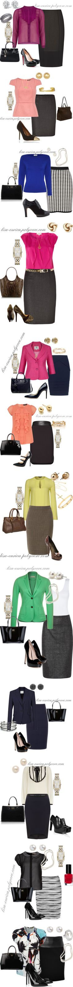 """""""Pencil Skirt - Work Chic"""" by lisa-eurica on Polyvore"""