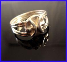 Zodiac, Pisces Ring, Handmade Solid Sterling Silver , SZ-11 #Handmade #Zodiac