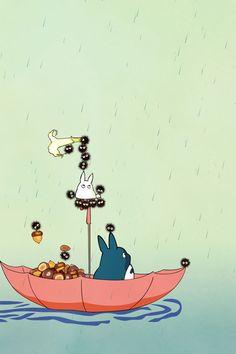Il était un fois ,le parapluie a totoro ...
