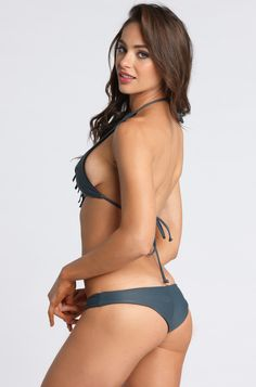 2015 Mary Grace Swim Reversible Maria Bottom in Black Sea/Stingray
