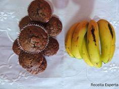 RECEITA ESPERTA    : MUFFINS DE CHOCOLATE E BANANA DA NIGELLA