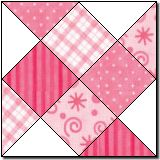 Quilt Square: Shooting Squares, 8""