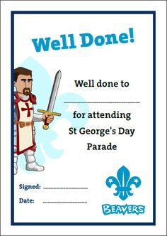 1000+ images about Beaver Scouts... Certificates on Pinterest | Beavers, Student-centered ...