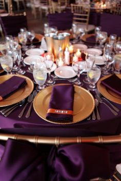 plum & gold wedding colors