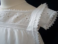 Isn't this incredible!! Perfect whitework, absolutely unbelievable needle lace and scrumptious crochet.
