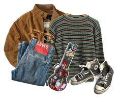 """""""CAN I GRADUATE???"""" by focus-on-me ❤ liked on Polyvore featuring Prada, Levi's and Converse"""