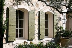 Custom Crafted Architectural Decorative Window Shutters   Mediterranean    Exterior   Los Angeles   By Dynamic Garage Door