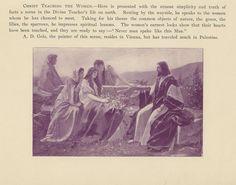 ANTIQUE JESUS CHRIST TEACHING THE WOMEN GIRL BIBLICAL PURPLE SMALL ART OLD PRINT in Art, Art from Dealers & Resellers, Prints | eBay
