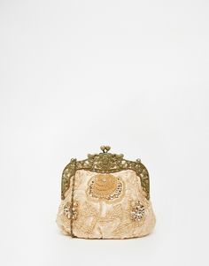 58bab1299acc Neve   Eve Beaded Vintage Style Clutch Bag Pink Clutch
