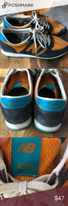 New Balance 420 sneakers in size 13 These are gently worn old school New Balance 420 sneakers in size 13...so dope New Balance Shoes Sneakers