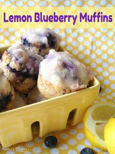 Lemon blueberry muffins with lemon butter glaze - my husband ought to bake these for me. right now.