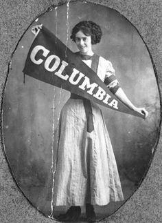 A cheerleader from Columbia College (1910s) #cheer #cheerleader #cheerleading