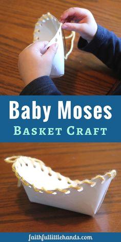 Baby Moses Basket Craft