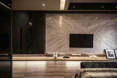 Interior tv back side Living Room Tv, Living Room Modern, Living Room Interior, Living Room Designs, Painel Tv Sala Grande, Luxury Interior, Home Interior Design, Tv Feature Wall, Muebles Living