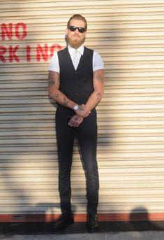 NY Street Fashion - Skinny jeans & Waistcoat.