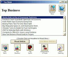 AOL Top Business News Screenshot