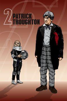 $8.99 Doctor Who - Patrick Troughton & Sontaran - 18 x 12 Digital Print