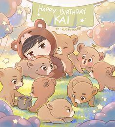 by duckhymne on FanBook Naruto Chibi, Chibi Manga, Chibi Bts, Kpop Exo, Exo Xiumin, Chibi Tutorial, Chibi Poses, Exo Birthdays, Exo Cartoon