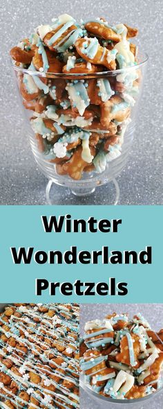These snowflake party pretzels are so good, take just minutes to make and you can customize them to match any theme!