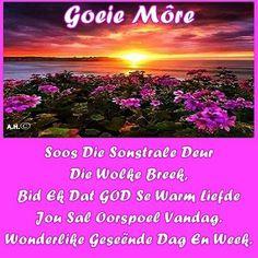 Lekker Dag, Afrikaanse Quotes, Goeie Nag, Goeie More, Good Morning Wishes, Kwazulu Natal, Bible Verses, Van, Twitter