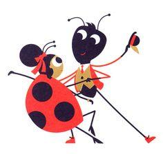 Spencer Wilson -  Tiphaine-illustration #ladybird #ant