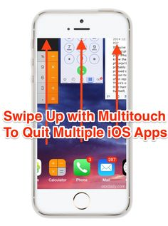 Quit multiple apps at once with swipe-up gestures on iPhone