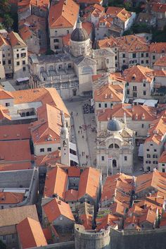 View over The Old Town, Dubrovnik, Croatia. To see this view, you have to climb stairs to the top.. A lot of stairs! But it's worth it!