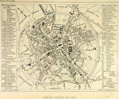 Kaart van Leuven, Edward van Even, 1860