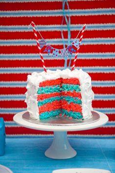 Dr Seuss Cake Decorations | Dr. Seuss Party via Kara's Party Ideas | KarasPartyIdeas.com #Seuss # ...