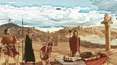Recreación de la cremación de un noble íbero II