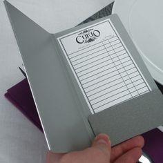 Cartas para restaurantes   Porta Cuentas de aluminio