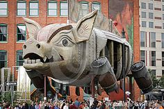 2010 Art Prize Winner! The city of Grand Rapids, MI has decided to leave the winners piece from each year on display in the city.  This was a great experience, Im so glad we went!!
