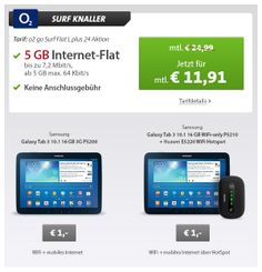 5GB Datenflat + Samsung Tab 3