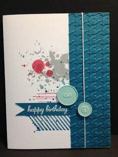 Gorgeous Grunge Birthday Card Stampin' Up!  Rubber Stamping Handmade Cards