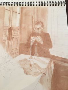 Shabbat Shalom - Warsaw Ghetto, c. 1942 - one the collection Beloved: Unfinished Lives by South Carolina artist, Mary Burkett.