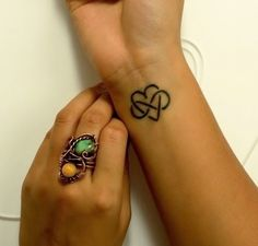 Small #tattoo design #heart #infinity. Love the design.  Means love forever.  Want to get this tattoo on back of my neck.
