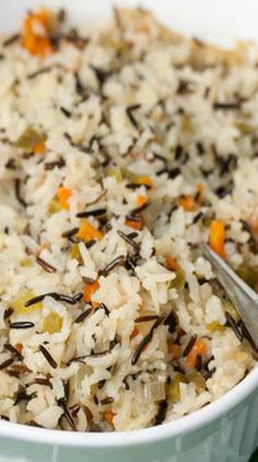 Wild Rice Pilaf: Think I would add a few additional seasonings to this recipe. Wild Rice Pilaf: Think I would add a few additional seasonings to this recipe. Seasoned Rice Recipes, Wild Rice Recipes, Rice Side Dishes, Vegetable Side Dishes, Vegetarian Recipes, Cooking Recipes, Healthy Recipes, Cooking Games, Wild Rice Pilaf