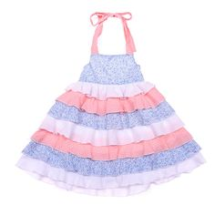 This beautiful little dress starts in size 2. A beautiful soft cotton fabric with a full skirt with layer effect and pastel in colour. A special dress for a special occasion. Maybe a Christmas day outfit! Recommend wearing with the Beautiful Soles MJs Snow White!
